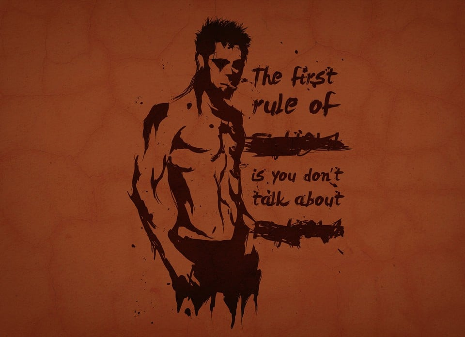 The First Rule Of Fight Club Quote