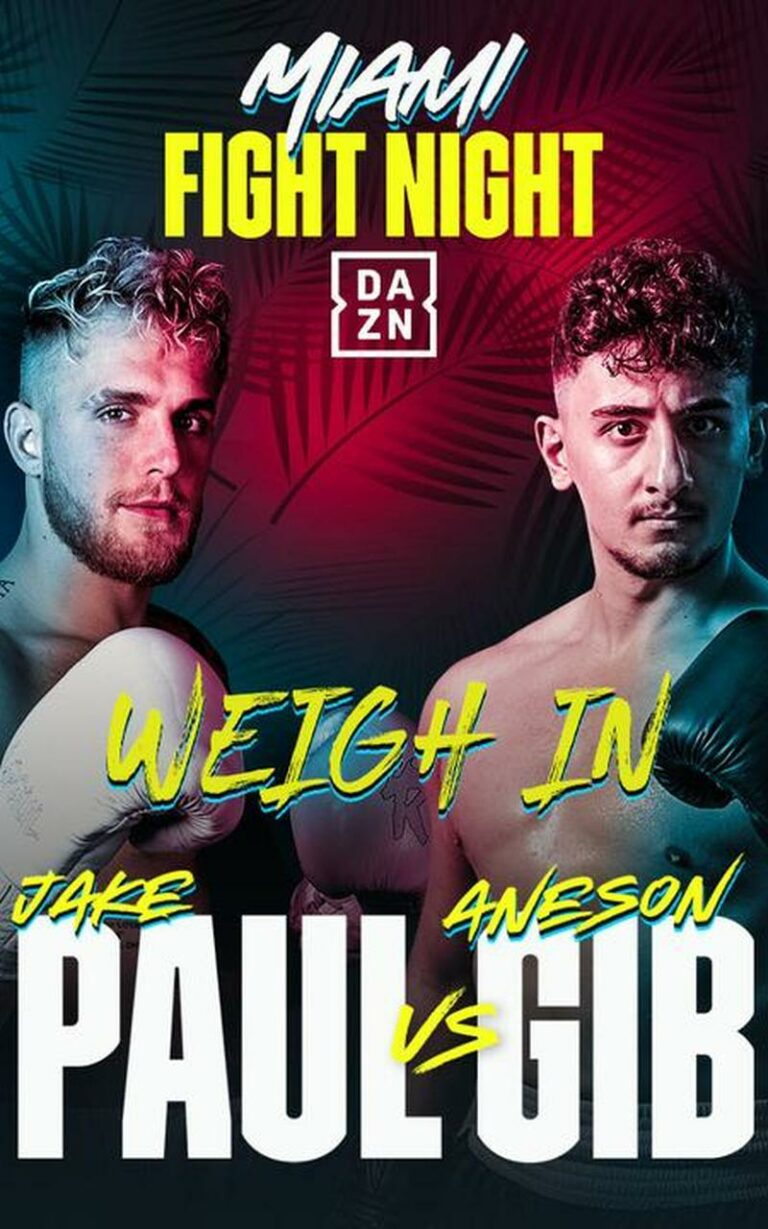 Jake Paul VS Gib Free Live Stream